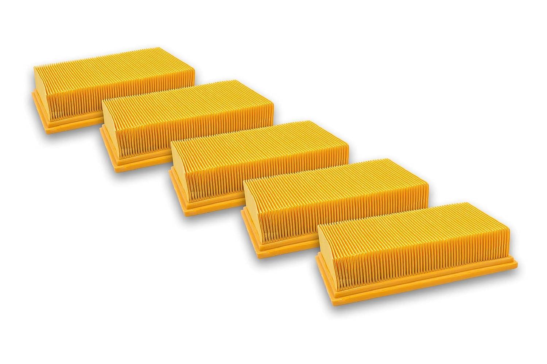10x Staubsaugerfilter wie Würth 0702400191 0702400367 Flachfalten-Filter