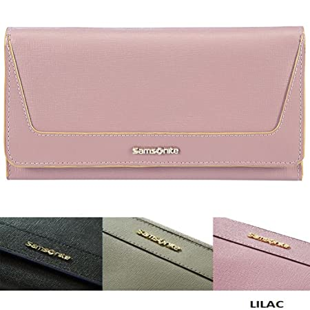 f50c8549a SAMSONITE Lady Saffiano Genuine Nappa Leather Card Holder BANKNOTE Wallet  Purse Lilac Colour: Amazon.co.uk: Luggage