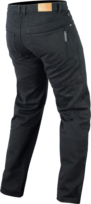 Bikers Gear UK Moto Noir Coupe Classique Jeans avec Duponttm Kevlar Aramide Fibre Amovible Armour
