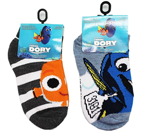 Disney Pixars Finding Dory Assorted Little Kids Socks (sock Size 4-6, ...