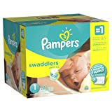 Amazon Price History for:Pampers Swaddlers Disposable Diapers, Size 1, 222 Count