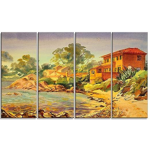 Designart PT6351-271 4 Piece - orange wall decor