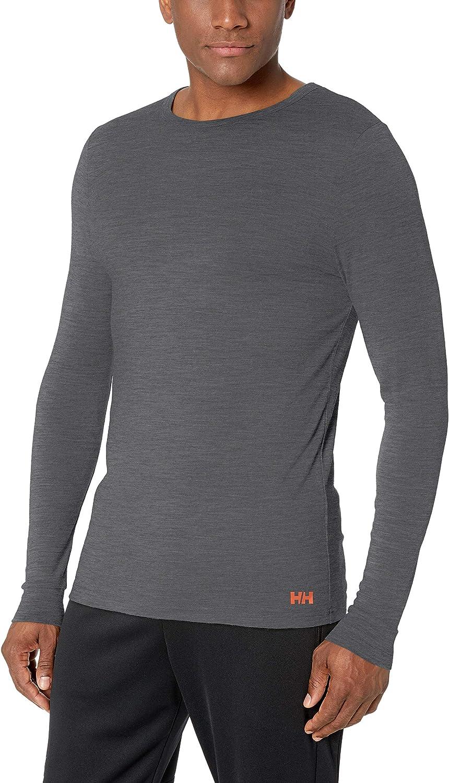 Helly-Hansen Men's Merino Wool Mid Long-Sleeve Baselayer Top