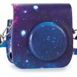 CAIUL Compatible Mini 25 26 Instant Film Camera Case Bag with Soft PU Leather Material for Fujifilm Instax Mini 25 26 (Galaxy)
