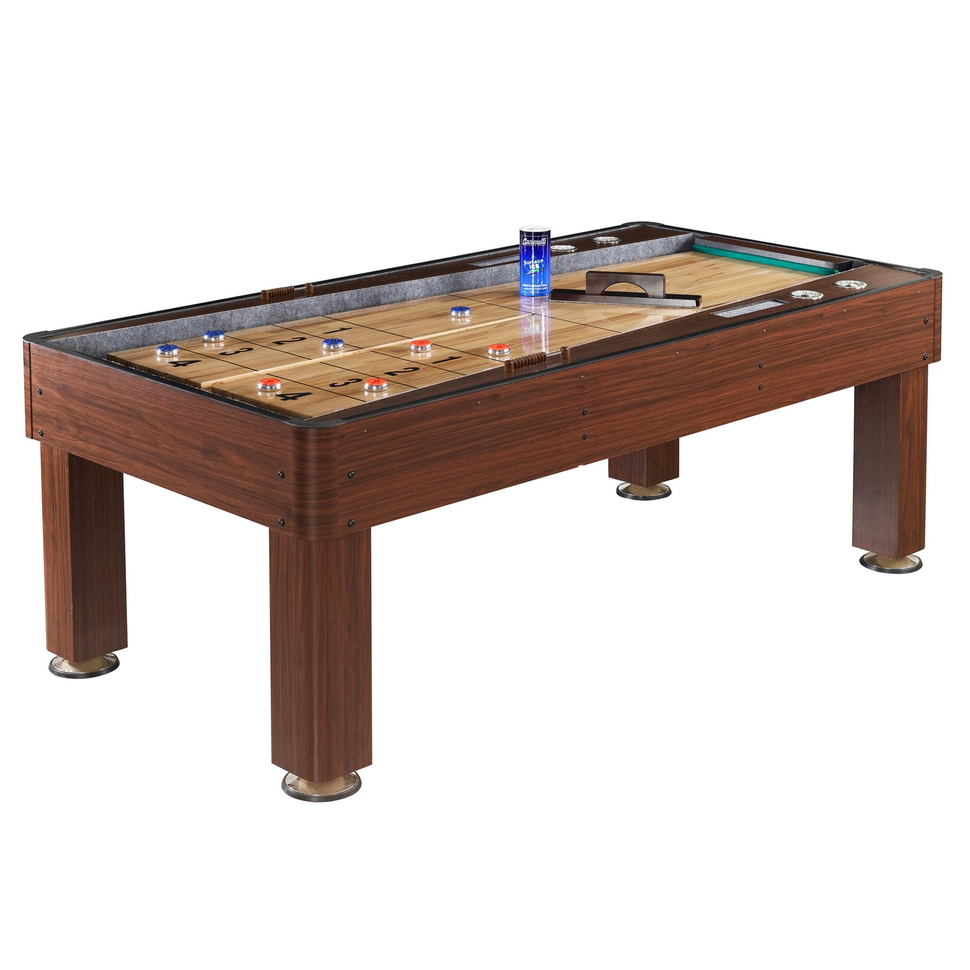 Hathaway Ricochet Shuffleboard Table, Cherry Finish, 7-Feet