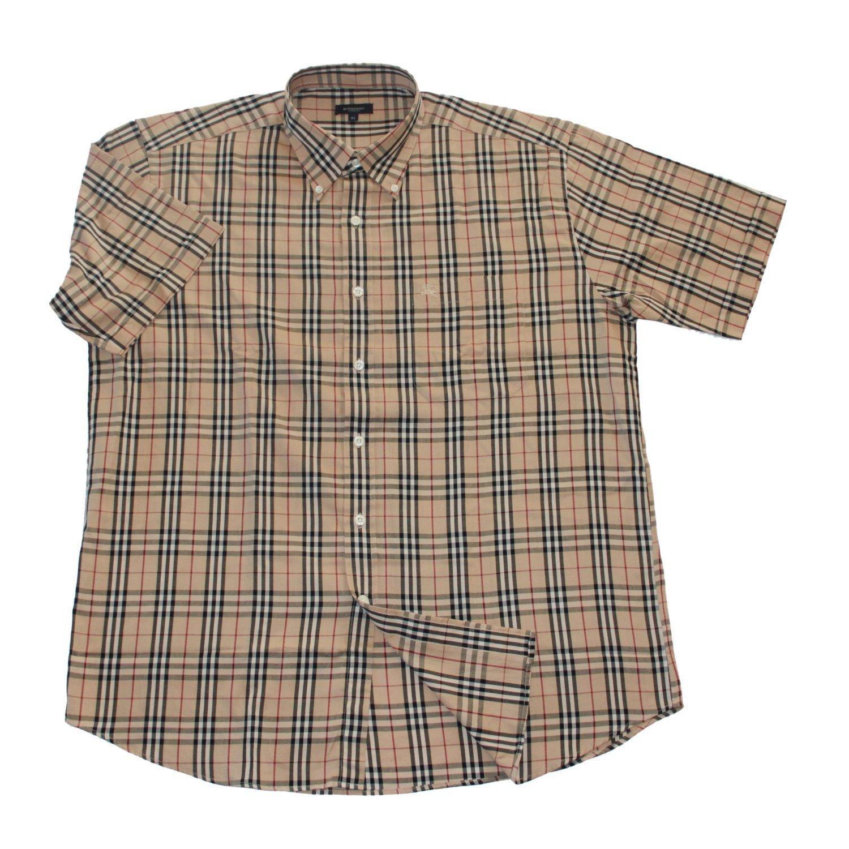 ba4580c0bbaa BURBERRY - Chemise Casual - Homme - Manches Courtes - Beige (M)  Amazon.fr   Vêtements et accessoires