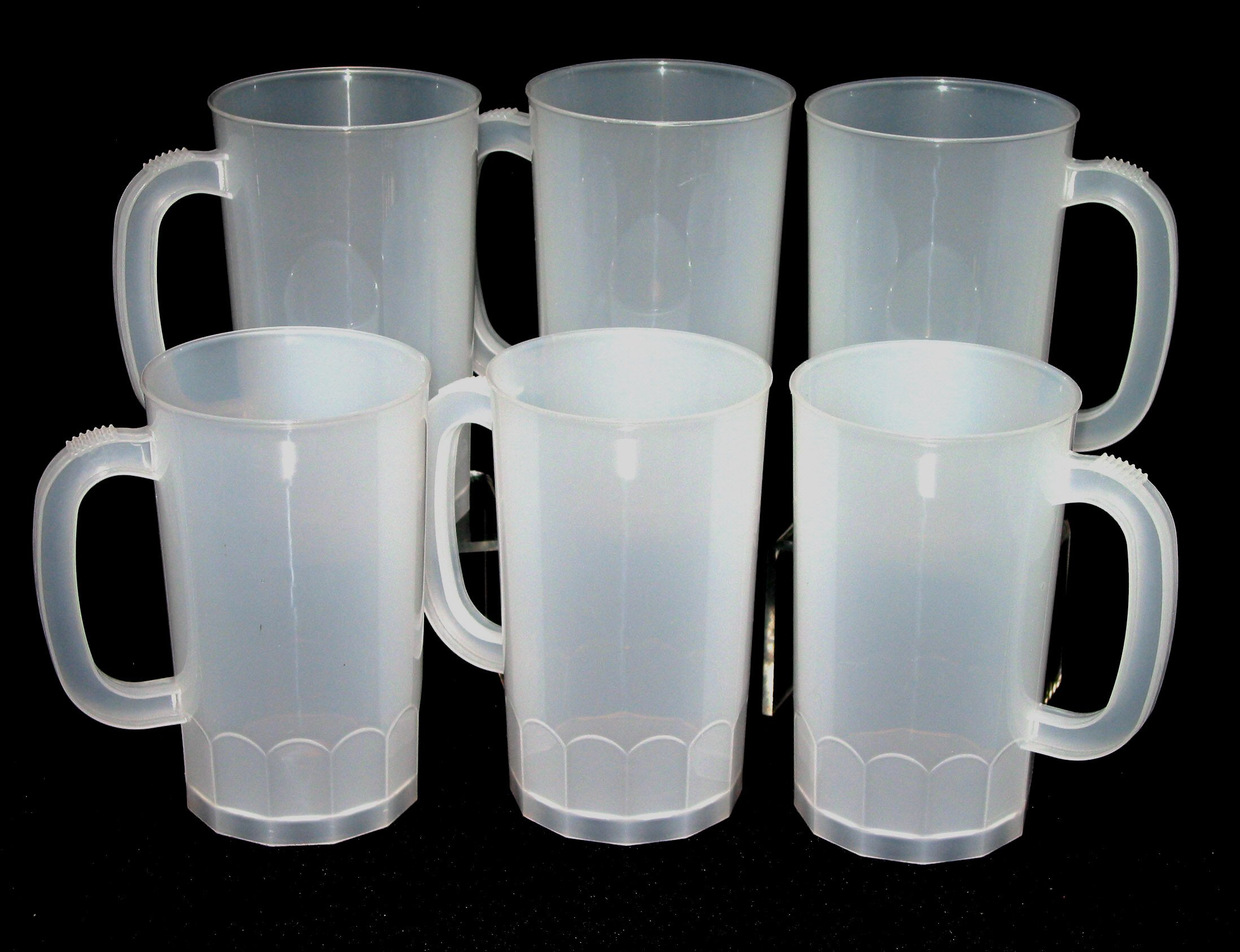 Talisman, Plastic Beer Mugs, Large 32 Ounce, Pack 50, Color Natural by Jean's Plastics