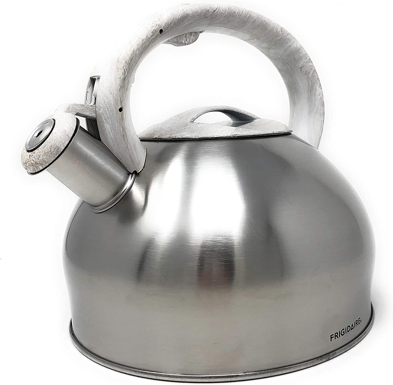 Match your Kitchen Frigidaire Stainless Steel 3.2 QT Stovetop Tea Kettle Black Marble