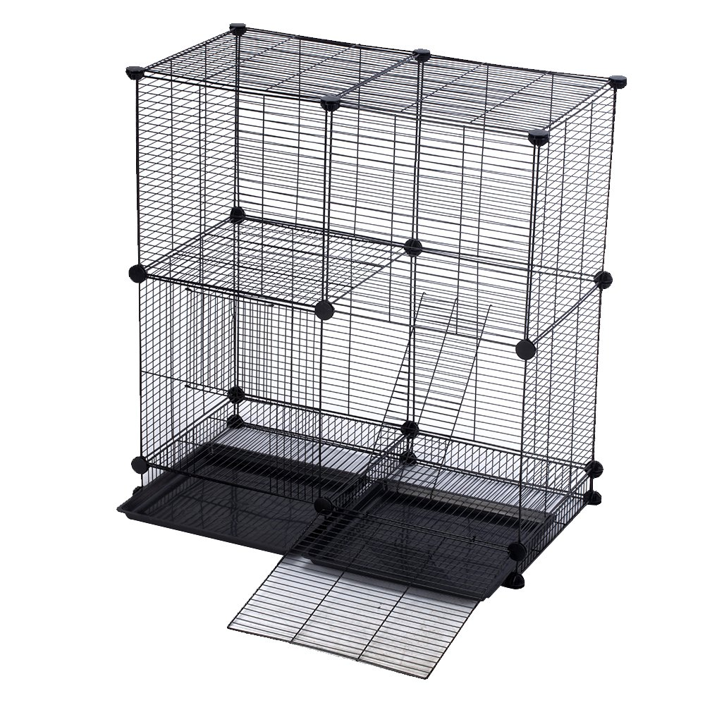 Modular Add-Up Small Cat (Kitten) Small Dog (Puppy) Cage Playpen Series CW63088 (Black Basic) by CHEERWEPET (Image #3)