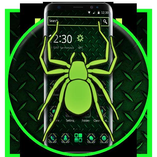 Neon Green Spider 2D Theme ()