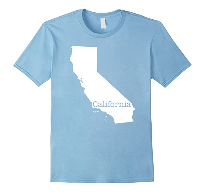Amazon California State Map Outline T Shirt Clothing