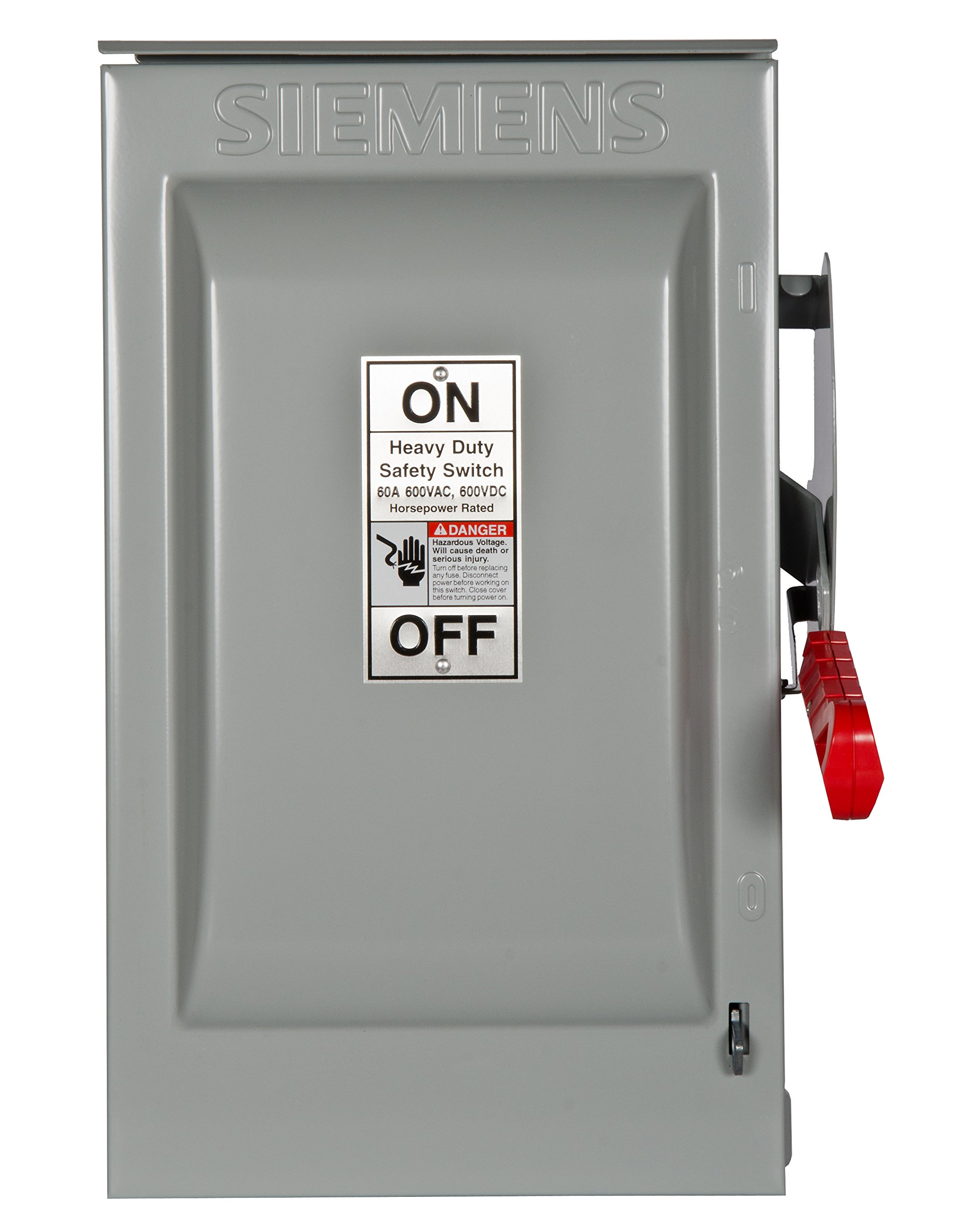 Siemens HNF362R 60-Amp 3 Pole 600-volt 3 Wire Non-Fused Heavy Duty Safety Switches by SIEMENS
