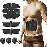 Abs Stimulator Abdominal Muscle Toner, Ultimate Abs Stimulator Ab Belt Abdominal Muscle Toning Belt Ab Stimulator for Men Women, for Abdomen/Arm/Leg/Waist