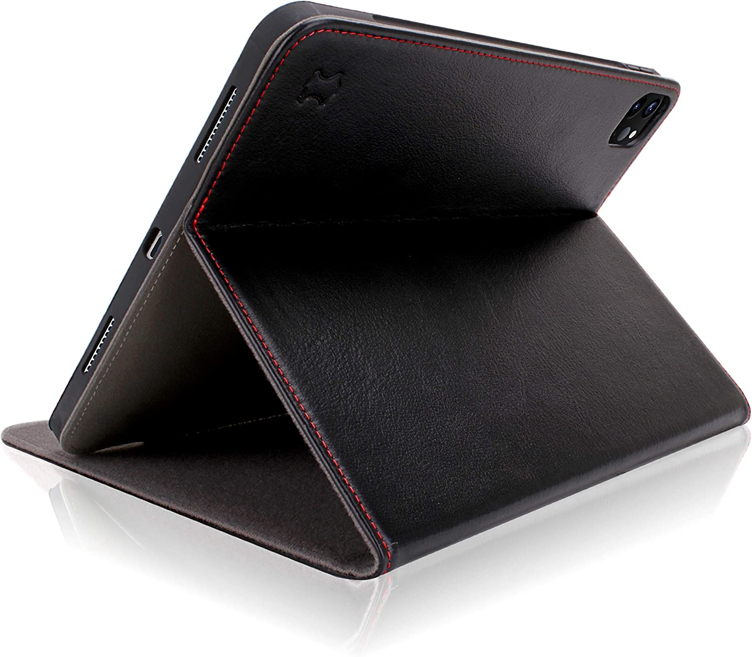 Cuvr Genuine Leather Case for New iPad Pro 12.9 2020 (4th Generation), Cover with Secure Any-Angle Stand and Safe Apple Pencil Holder for iPad Pro 12.9 inch 2020