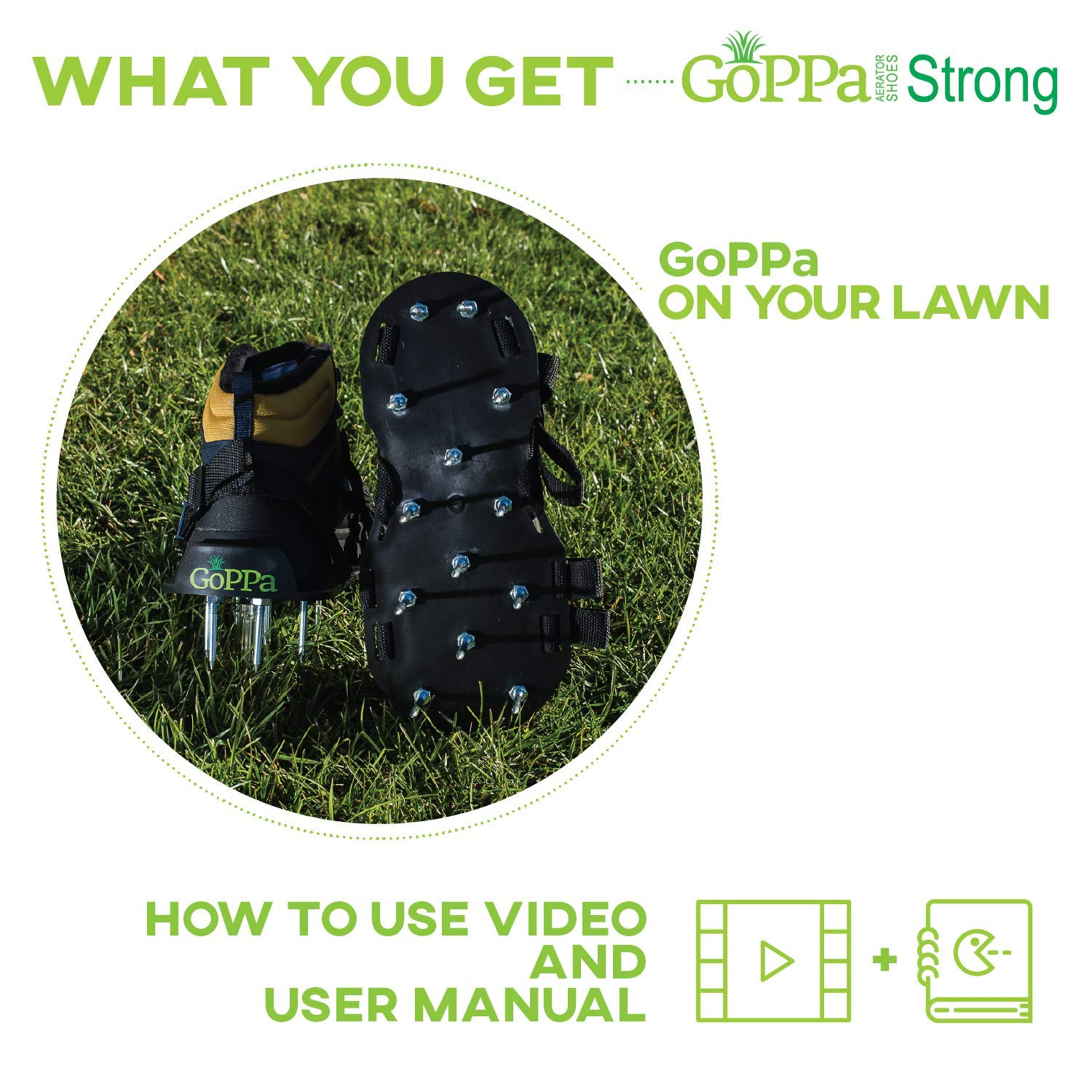 GoPPa Lawn Aerator Shoes – Heavy Duty Lawn Aerator Sandal, You only FIT Once. Ready for aerating Your Yard, Lawn, Roots & Grass – Strong Design by GoPPa (Image #8)