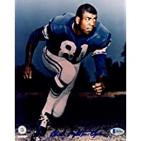 "$41 » Dick""Night Train"" Lane Autographed 8x10 Photo Detroit Lions Beckett BAS #S04164 - Beckett Authentication"