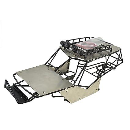 Amazon.com: RCAIDONG 1/10 Rc Crawler Metal Roll Cage Tube Frame ...