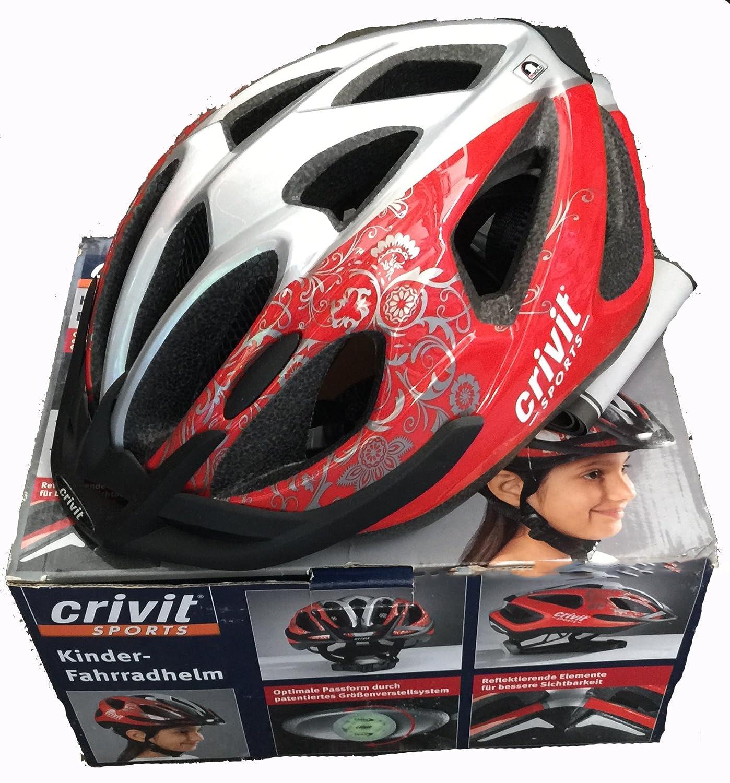 Casque de vélo pour enfant rouge argent filles rouge argent Amazon Sports et Loisirs