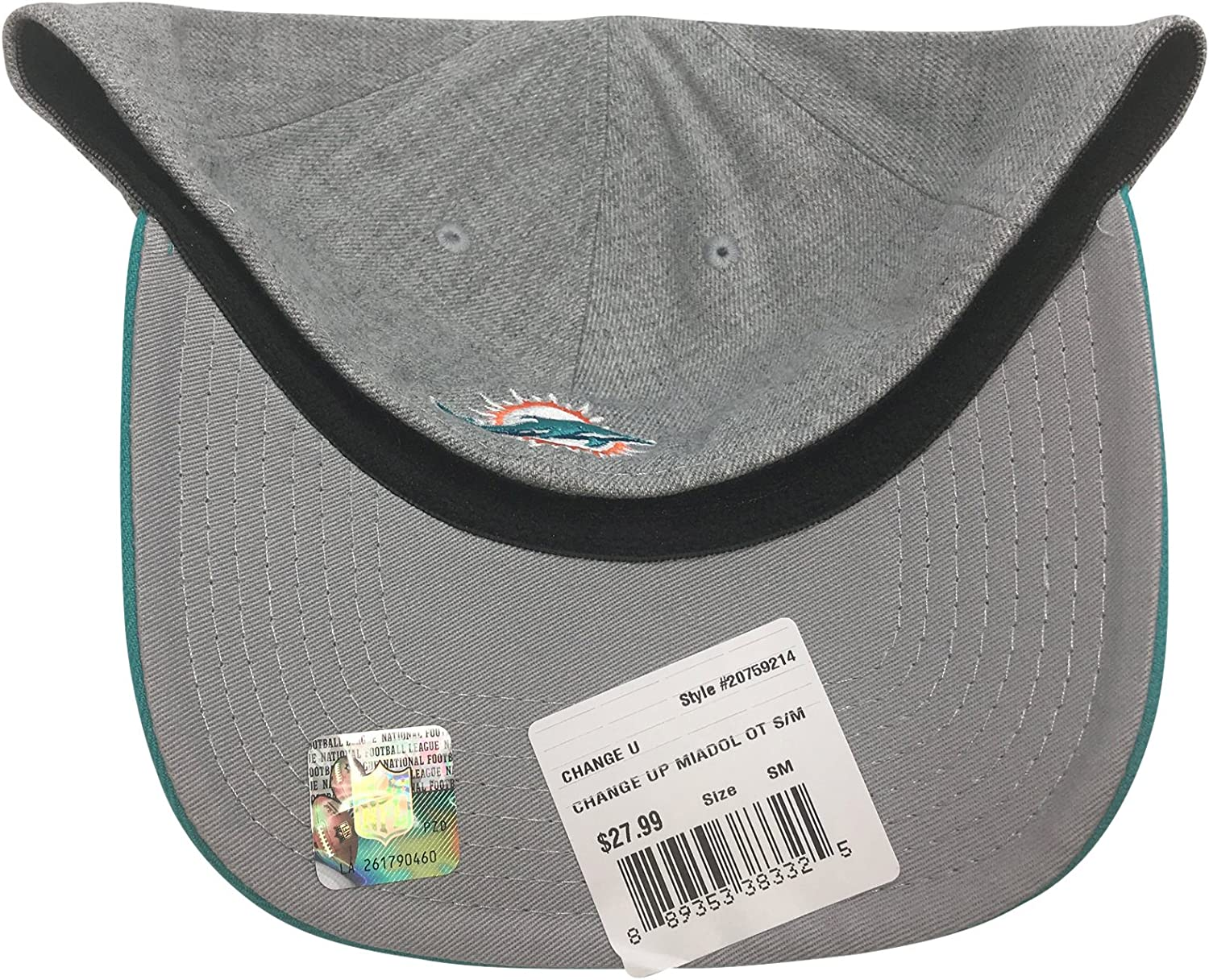 New Era 39Thirty Miami Dolphins Green Gray Hat S//M