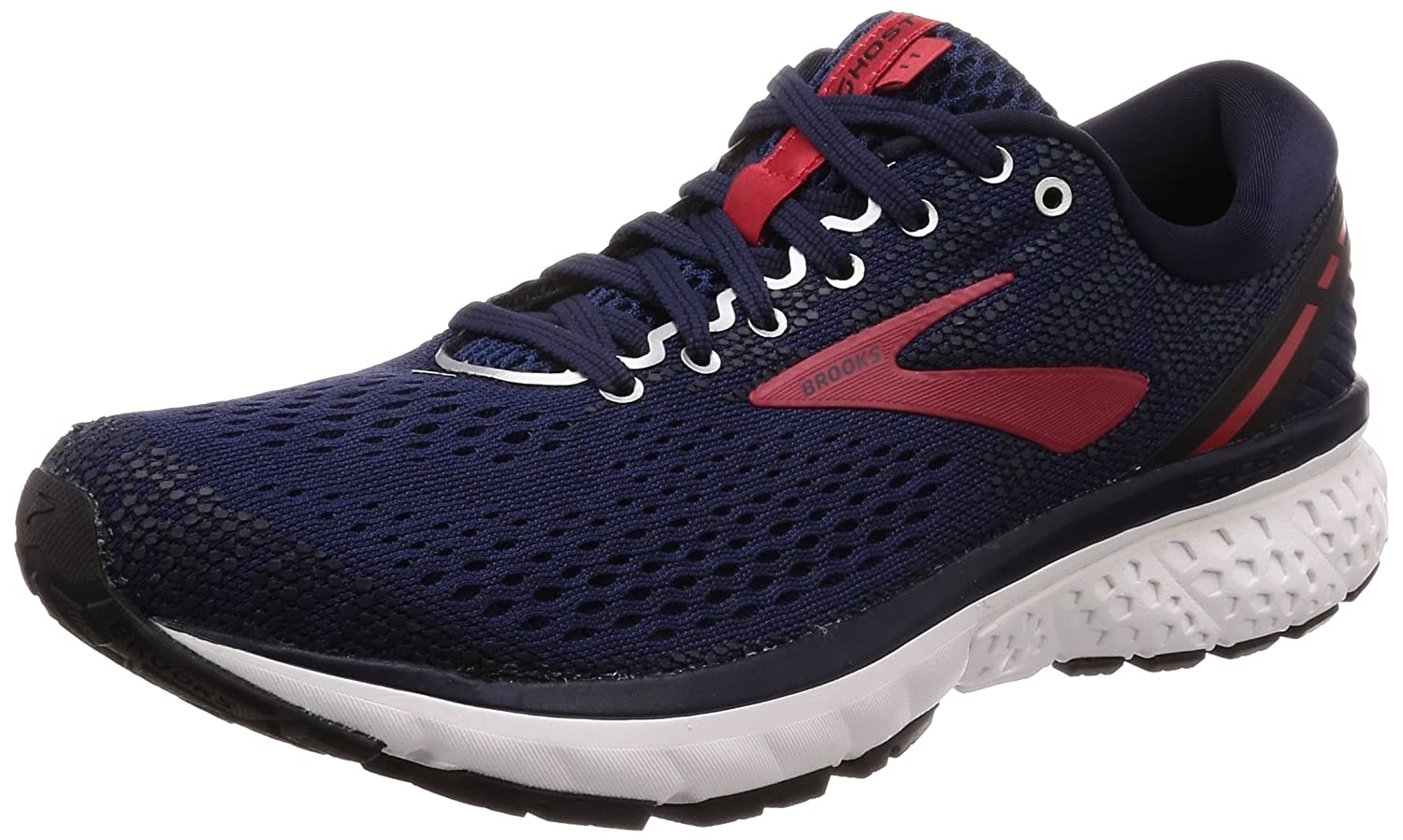 Brooks Men's Ghost 11 Running Shoes B077QN3SCL 9 M US|Navy/Red/White