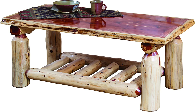 Amazon Com Red Cedar Log Coffee Table Kitchen Dining