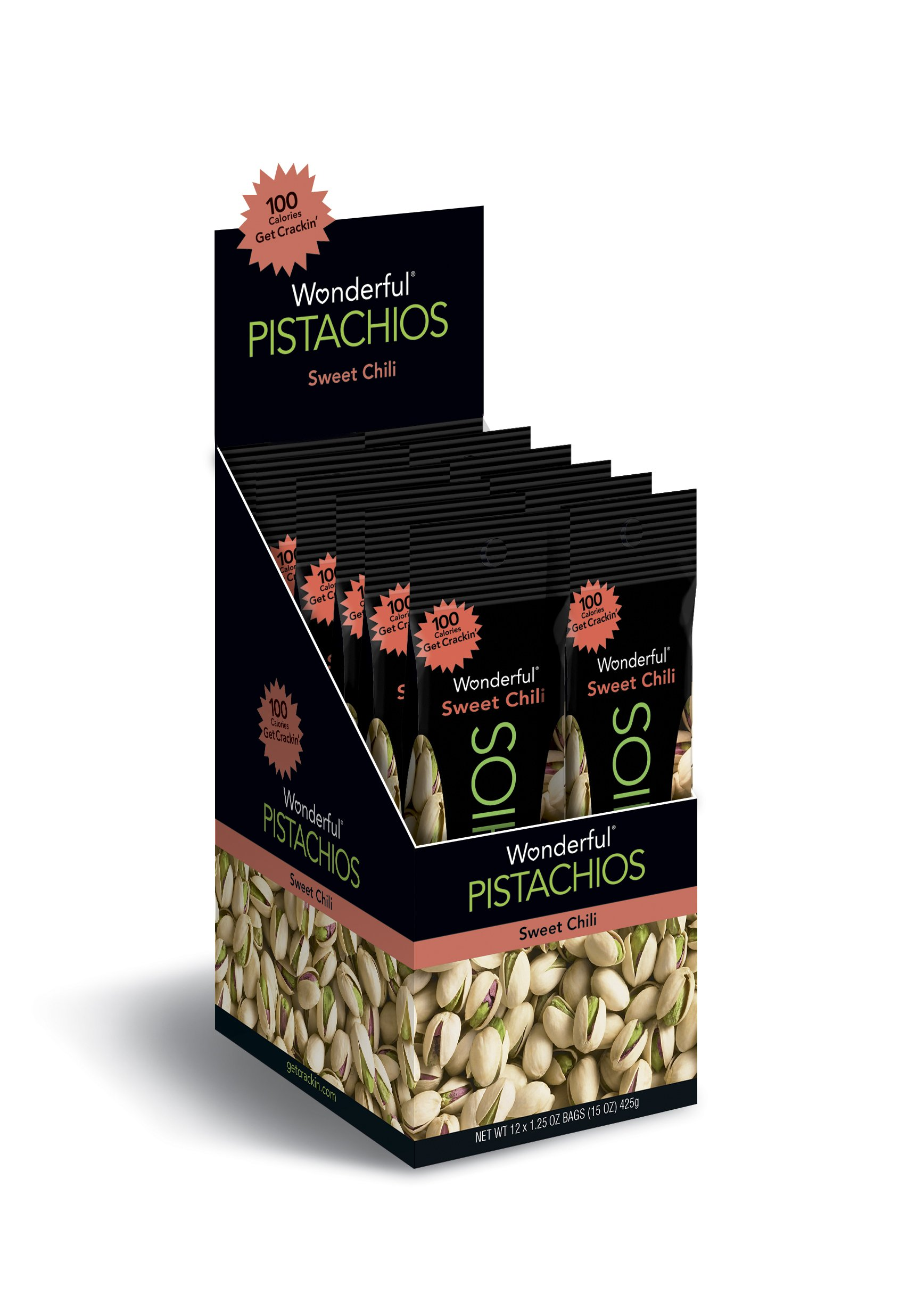 Wonderful Pistachios, Sweet Chili Flavored, 1.25 Ounce Bag (Pack of 12) by Wonderful Pistachios & Almonds