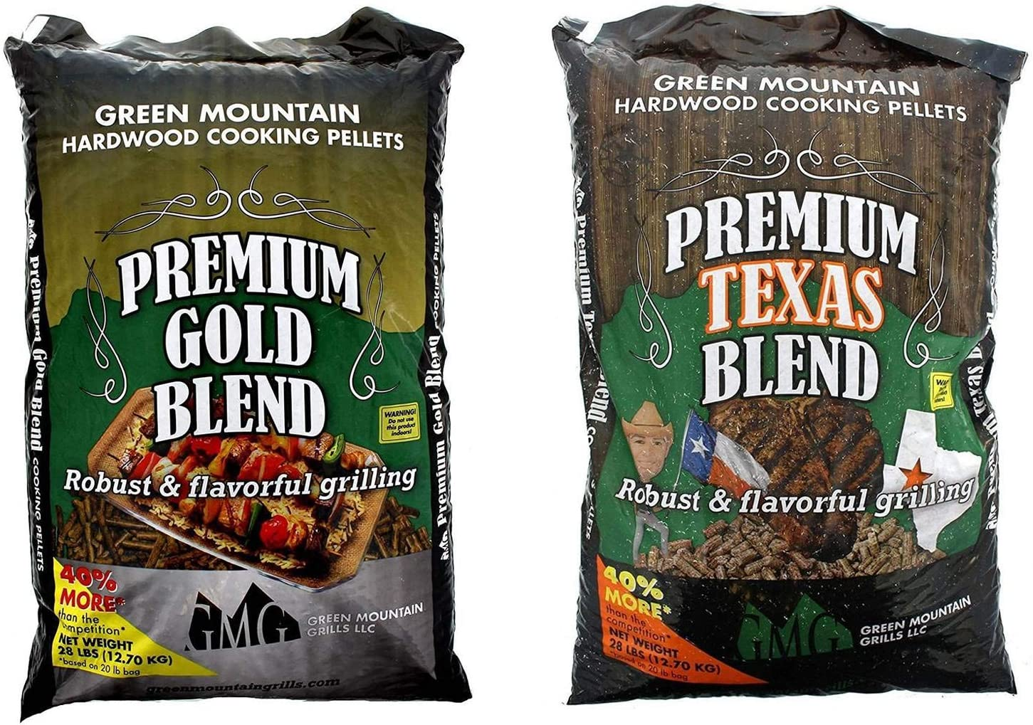 Green Mountain Premium Gold Blend Grilling Pellets, Premium Texas Blend Pellets