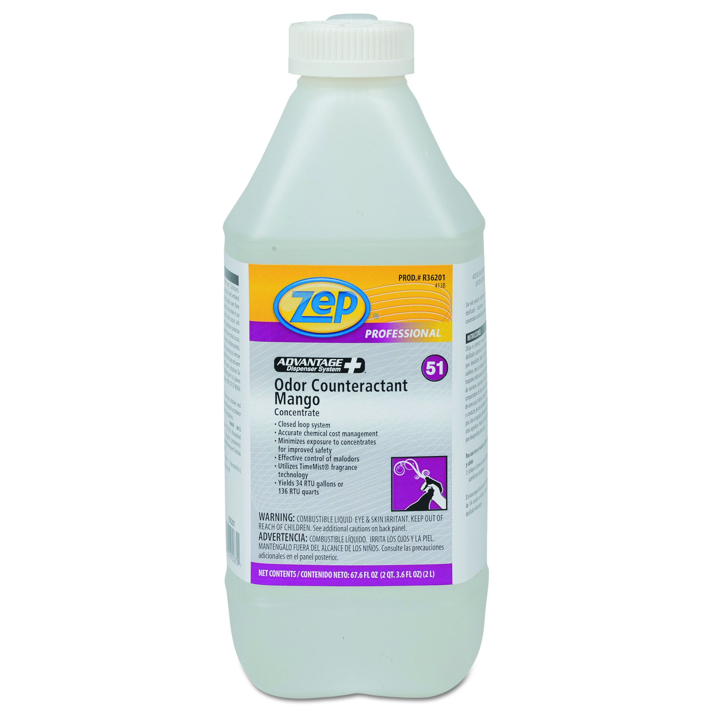Concentrated Odor Counteractant, Mango, 2L Bottle