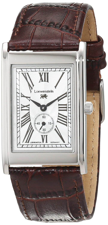 LÖwenstein Herren-Armbanduhr Analog Automatik Leder LO-T23167-194W