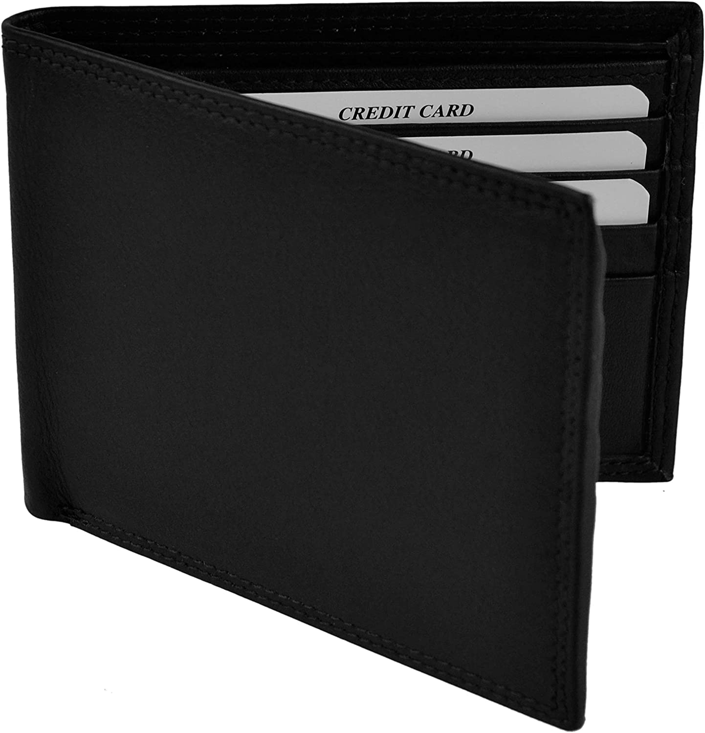 NEW Mens Quality Soft Bi-Fold LEATHER Wallet by Oakridge; Nevada Collection Gift