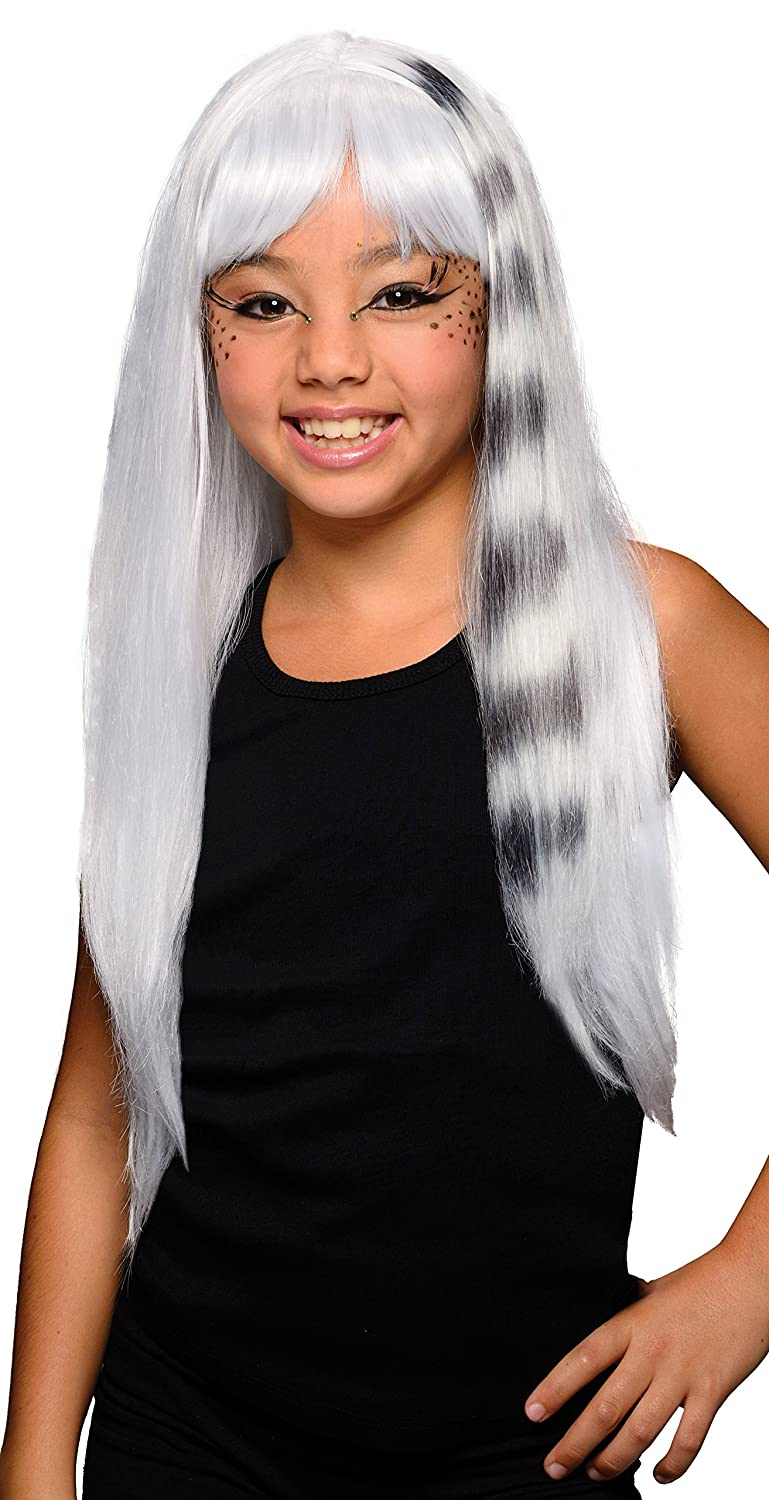 Rubies Costume Child's White and Black Kitty Cat Wig Rubies Costume Co (Canada) 52783