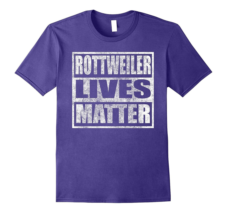 Rottweiler Lives Matter T-Shirt Vintage Distressed Shirt-TD