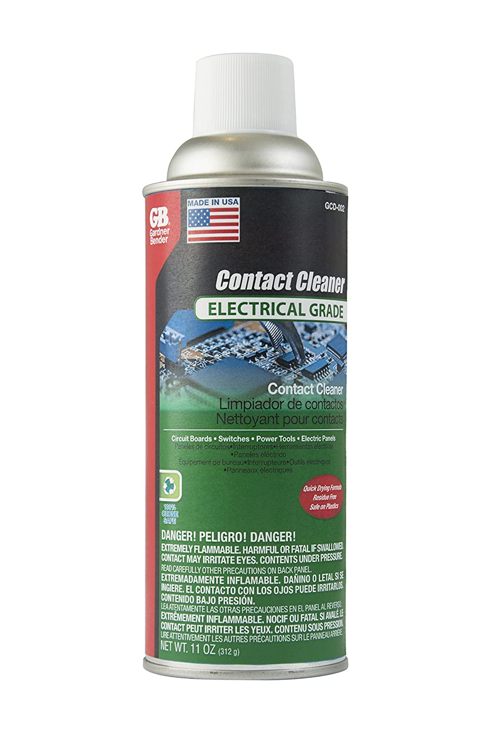 Amazon.com: Gardner Bender GCD-004 Electrical Degreaser, Cleans Electrical Contacts & Evaporates Completely, Can: Home Improvement