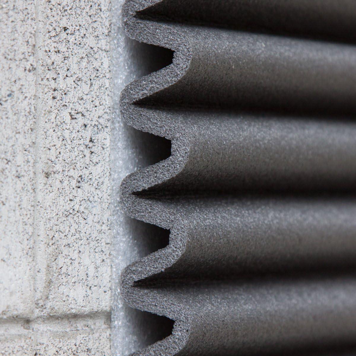 Stoßdämpfende Wandplatten Von Leggerodesign Selbstklebende Türkantenschutz Auto Wasserabweisend Garagen Wandschutz Jede Schachtel Enthält Vier Schaumstoffplatten 44 X 59 Cm Farbe Schwarz Auto
