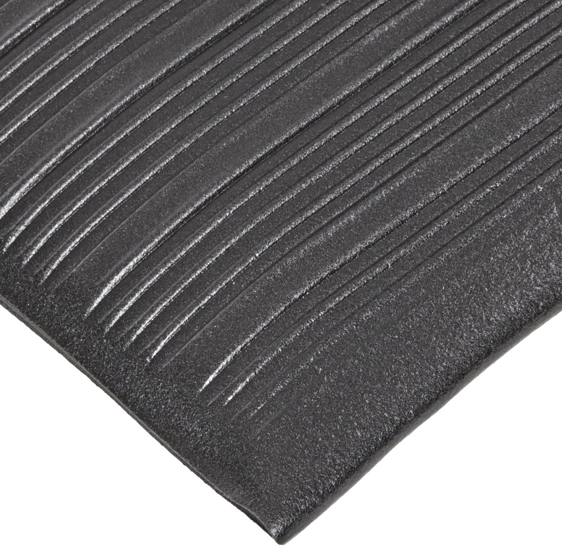 NoTrax 410 PVC Airug Safety/Anti-Fatigue Floor Mat, for Dry Areas, 3' Width x 12' Length x 3/8'' Thickness, Black