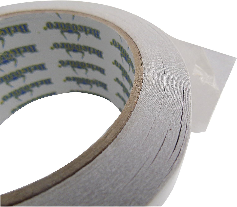 Cinta adhesiva 2 caras para moqueta transparente ancha 48mmX20m muy fina pega fuerte X2