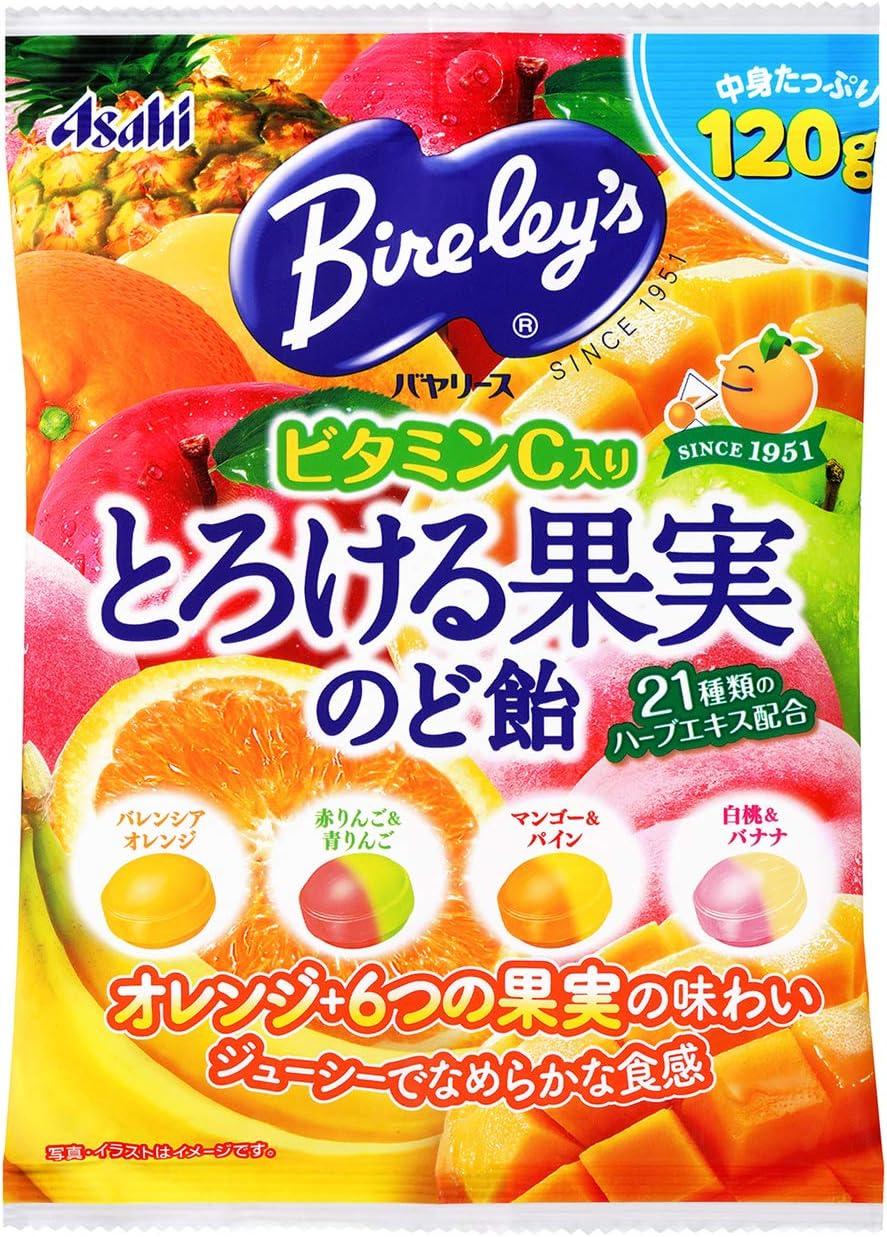 Amazon | アサヒグループ食品 バヤリースとろける果実のど飴 120g×6袋 ...