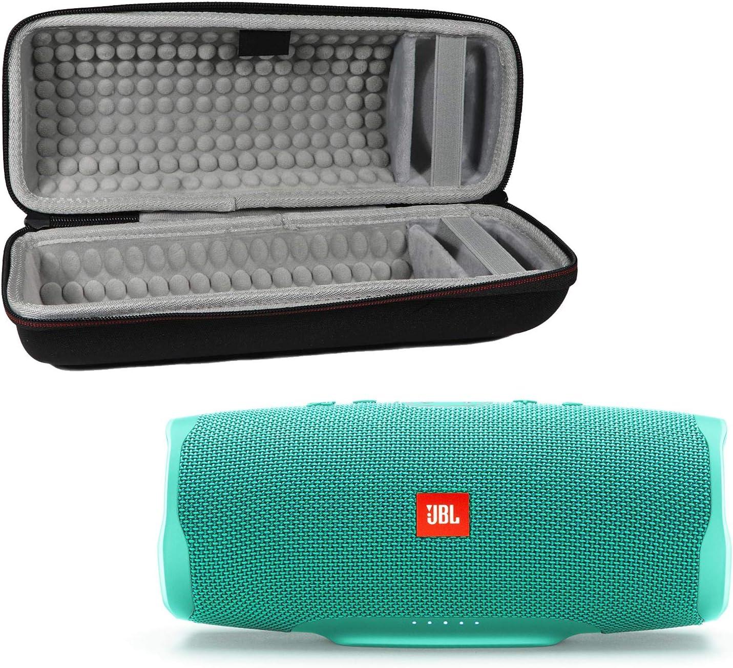 JBL Charge 4 Waterproof Wireless Bluetooth Speaker Bundle with Portable Hard Case - Teal