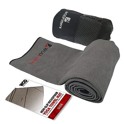 WODFitters - Toalla para Yoga - Microfibra - Gris con ...