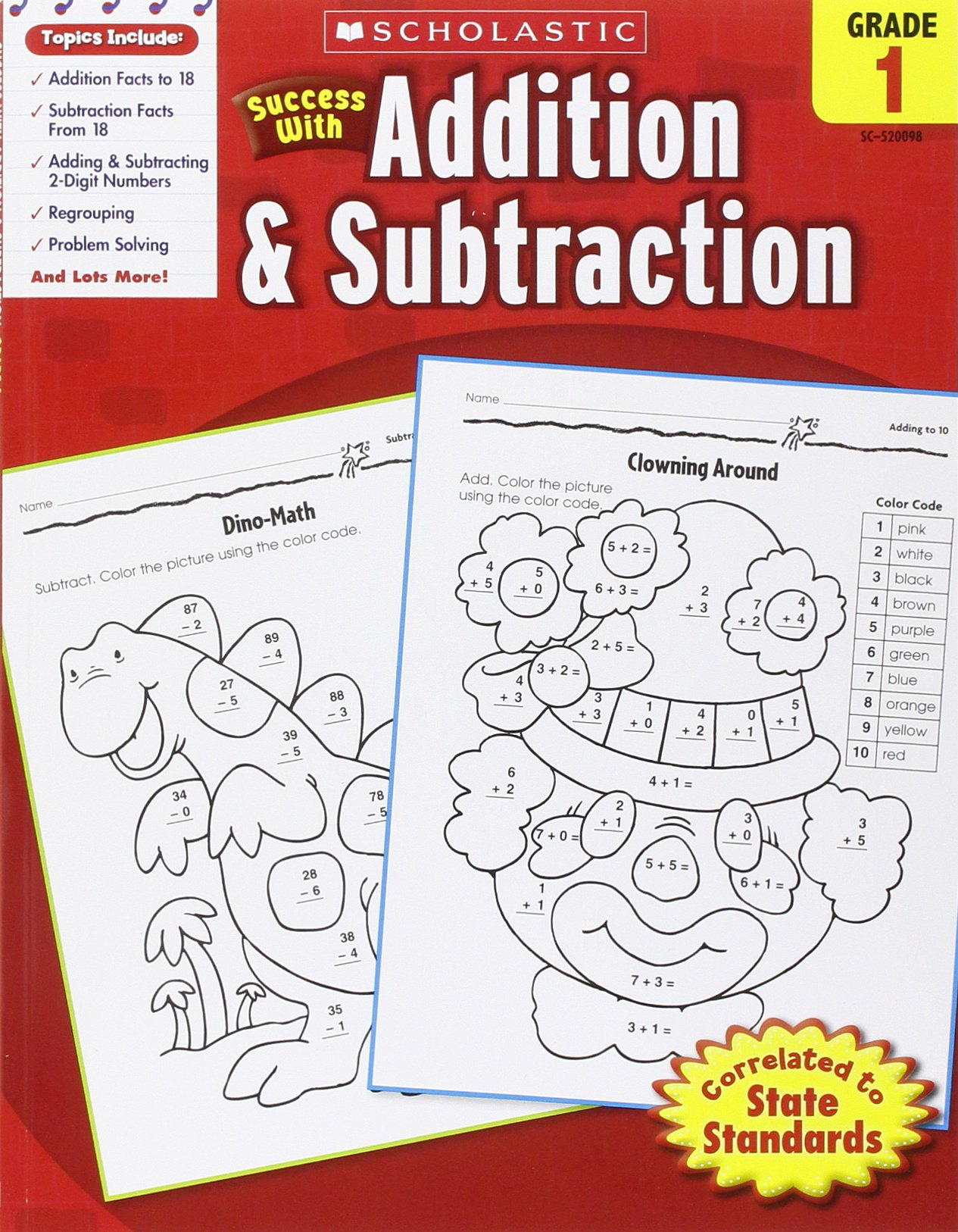 Scholastic Success with Addition & Subtraction, Grade 1 (Success With Math)  Paperback – March 1, 2010