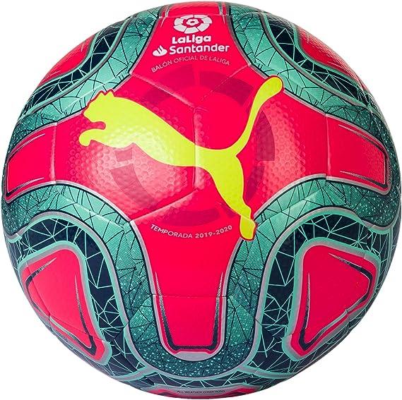 PUMA Laliga 1 Hybrid Balón de Fútbol, Unisex Adulto, Rosa (Pink Alert-Yellow Alert-Green Glimmer), 5: Amazon.es: Deportes y aire libre