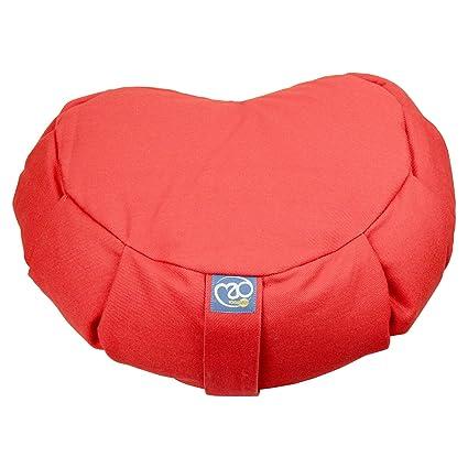 Yoga Mad plisado zafú Cojín de alforfón rojo granate: Amazon ...