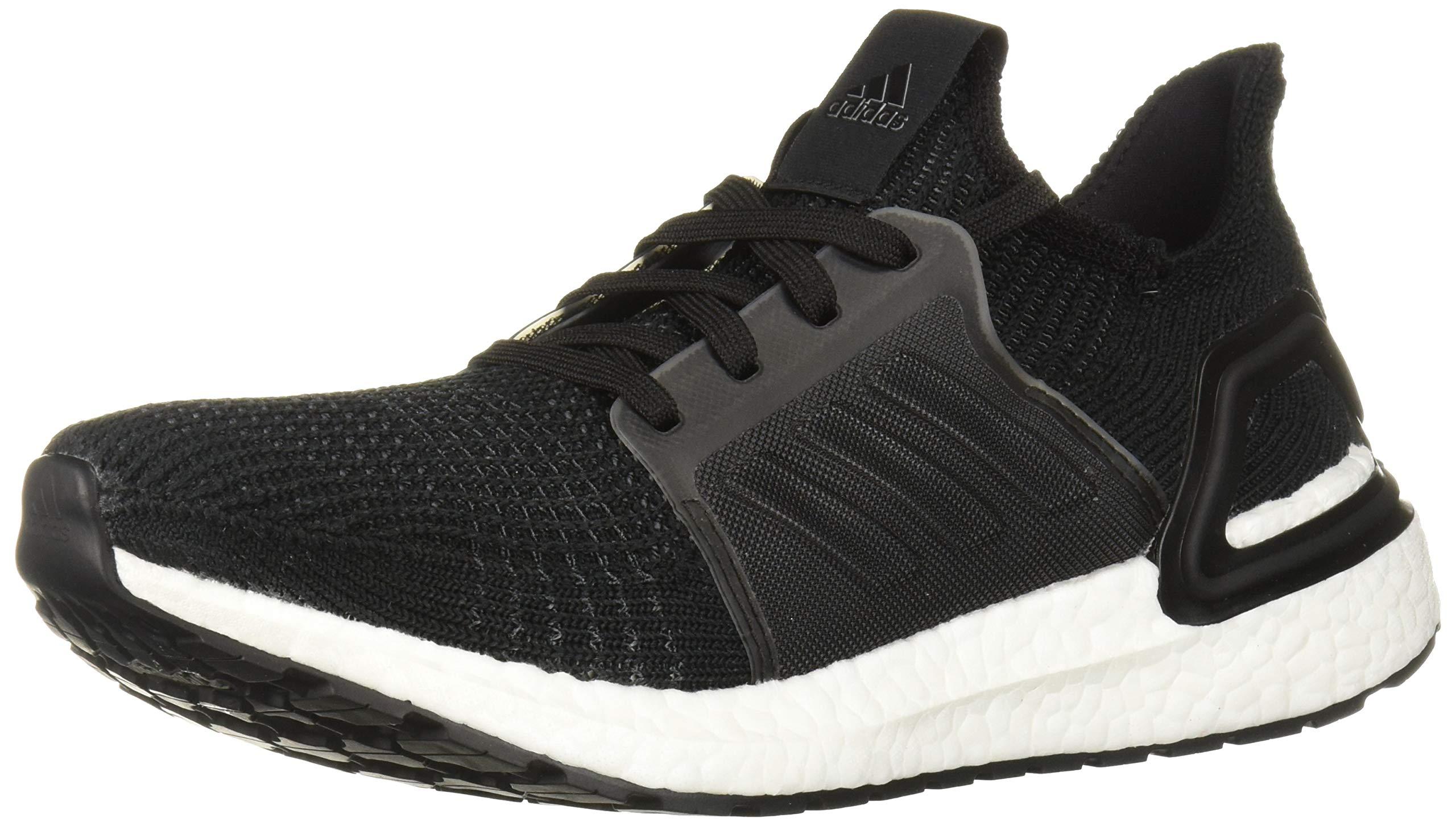 adidas Women's Ultraboost 19 Running Shoe, Black/Grey/Solar Orange, 8.5 M US by adidas