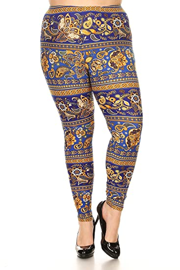 New Mix Plus Size Knit Patterned Leggings F40 At Amazon Women's Classy Plus Size Patterned Leggings