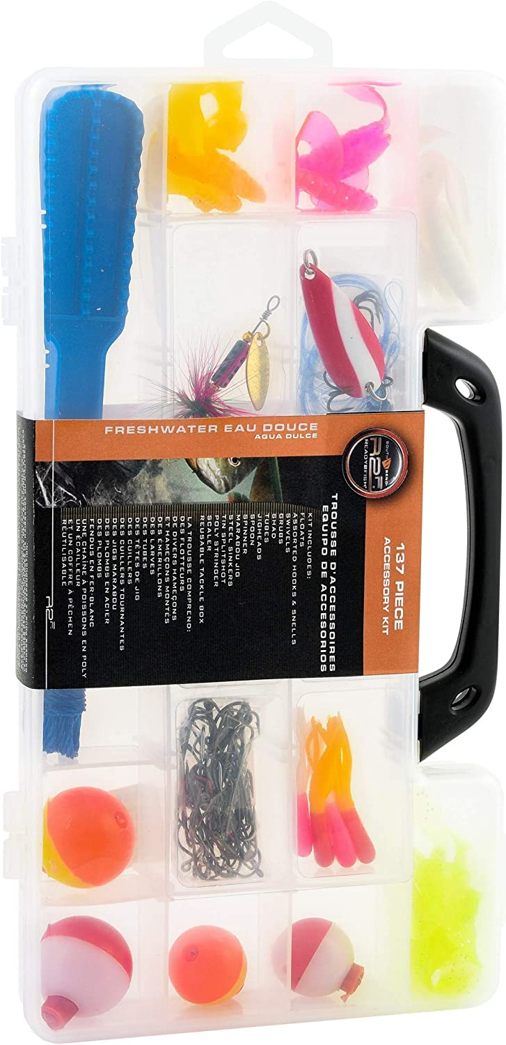 Ready 2 Fish 137-Piece Deluxe Tackle Kit