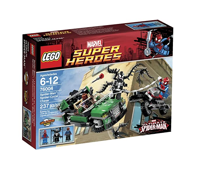 Amazon.com: LEGO Super Heroes Spider-Cycle Chase 76004 (Discontinued ...
