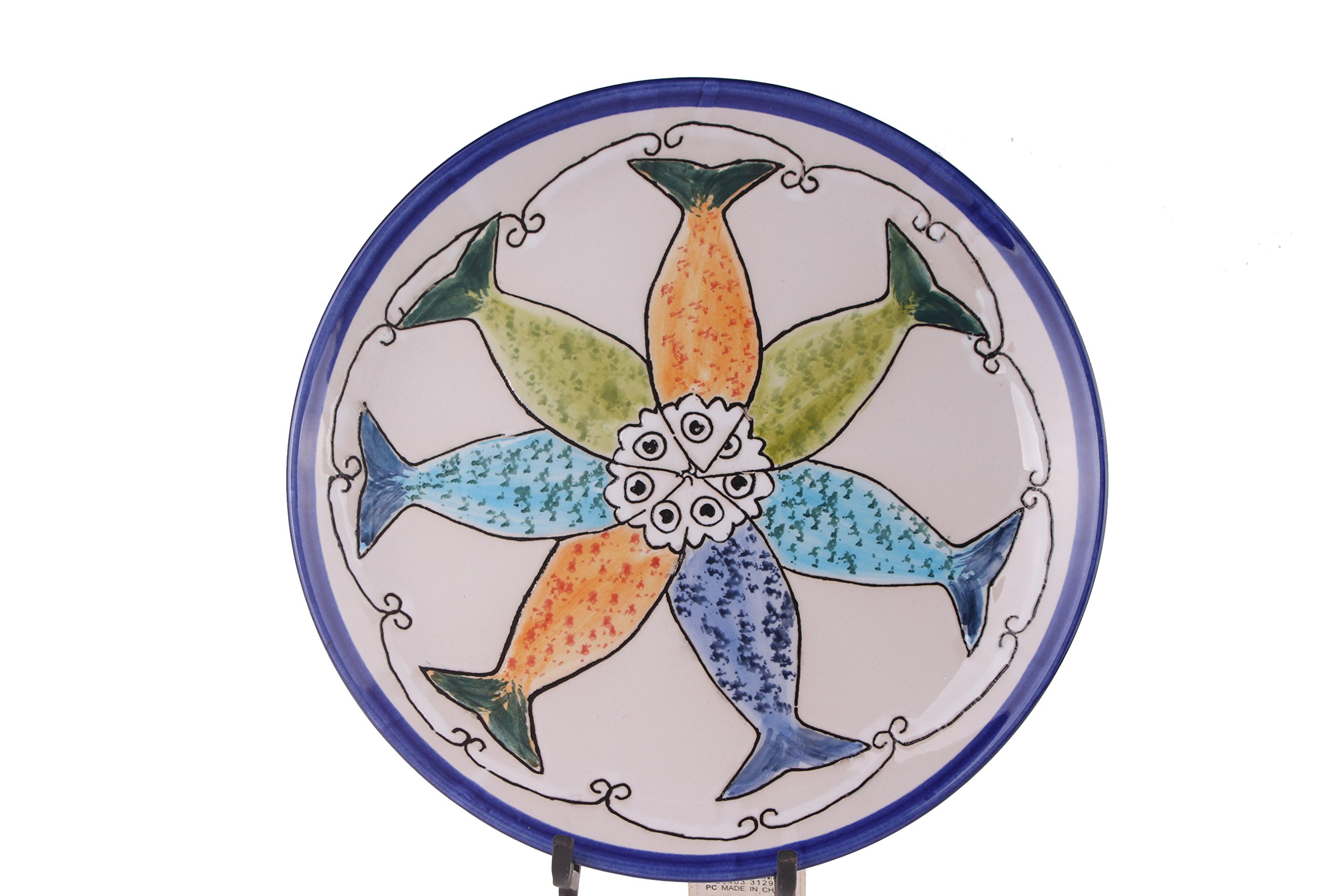 Blue Sky Ceramic Sardine Plate, 10.5''