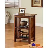 Furniture of America Valentin Oak Mission-style End Table
