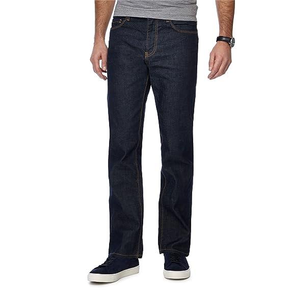 ed7fd95e1 Debenhams J by Jasper Conran Men Dark Blue Dark Wash Straight Fit Jeans: J  by Jasper Conran: Amazon.co.uk: Clothing