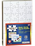 Hygloss Compoz-A-Puzzle, 5.5 x 8-Inch Blank Jigsaw 28 Pc Puzzle, 8 Puzzles with Envelopes